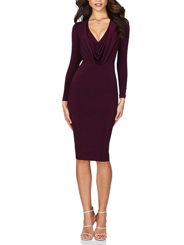 Entice Long Sleeve Midi Dress