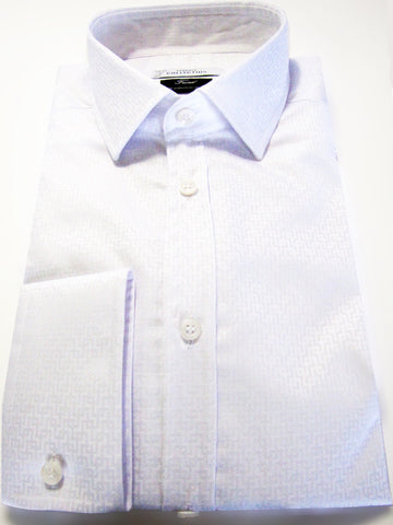 Versace Collection trend fit shirt in tonal jacquard cotton.