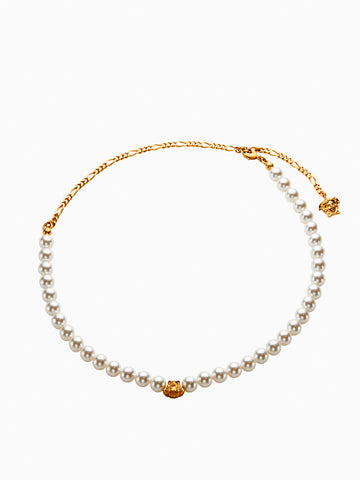 Versace Medusa Pearl Necklace