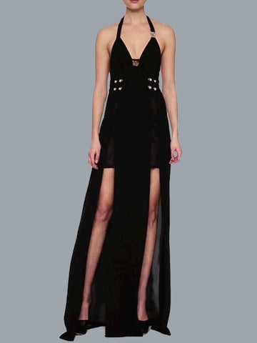 Versus Versace Maxi Halter Dress