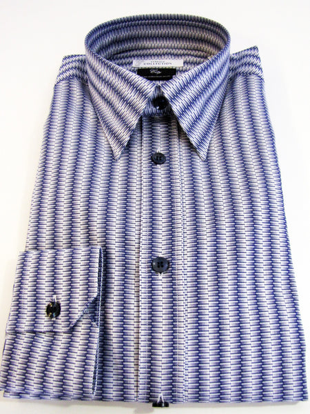 Versace Collection city fit shirt in striped herring pattern.