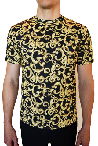 Versace Baroque Print Cotton-Jersey T-Shirt