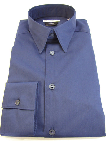 Versace Collection trend fit stretch shirt in mercerized cotton.