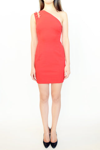 Versus Versace One Shoulder Mini Dress