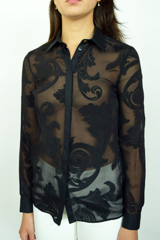 Versace Collection Sheer Blouse