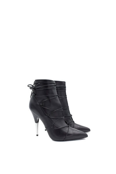 Versus Versace Lace-up Leather Ankle Pumps