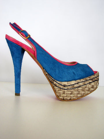 Suede Sling Back Pump