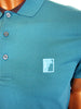 Versace Collection fitted button up polo with Versace signature logo.
