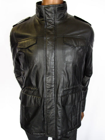 LM La Matta Leather Parka Jacket