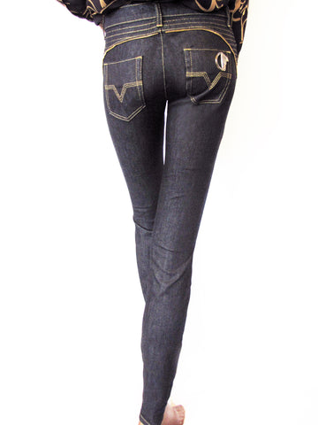 Versace Collection Skinny Zip Jeans