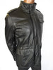 La Matta luxurious leather parka lined with wool blend quilt