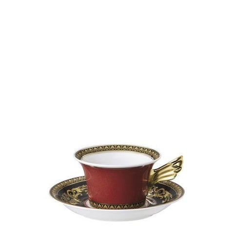 Tea Cup & Saucer, 6 1/4 inch, 7 ounce | Medusa Red
