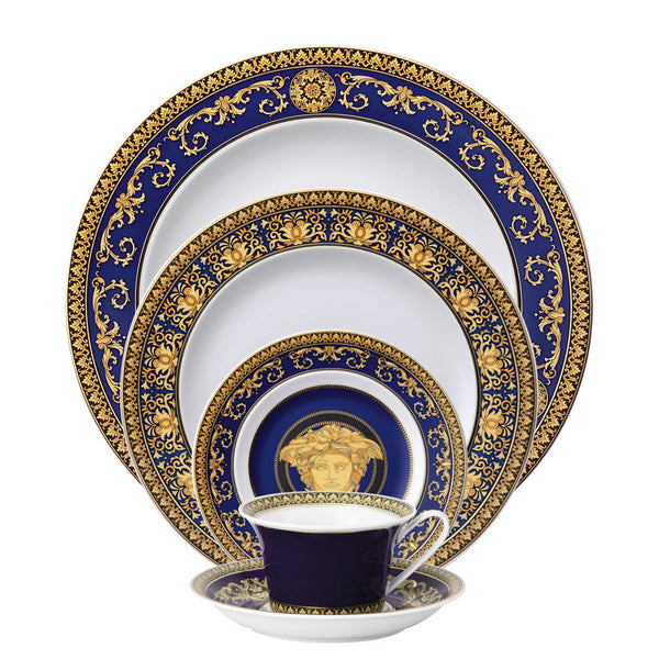 5 Piece Place Setting (5 pps) | Medusa Blue