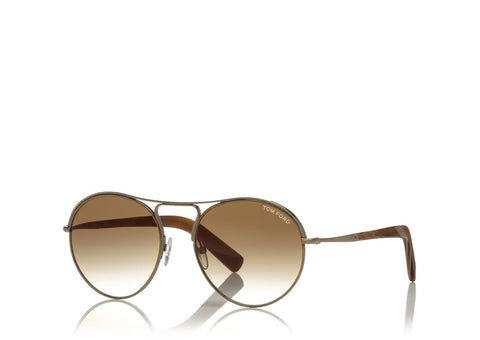 Tom Ford Eyewear TF449 Gold Brown