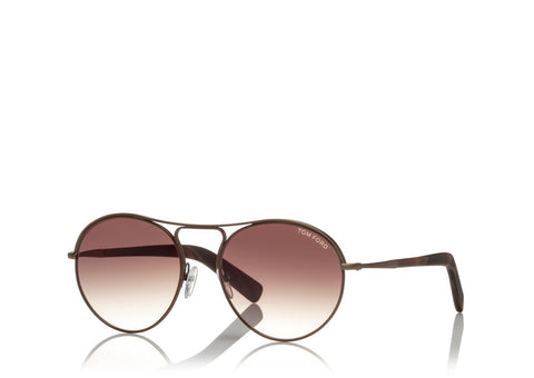 Tom Ford Eyewear TF449 Gold/Bordeaux