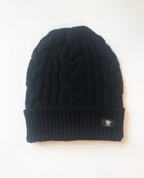 Versace Cable Knit Beanie
