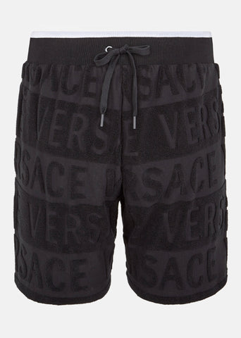 Versace Signature Terry Cotton Shorts