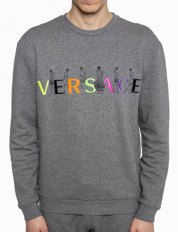 Versace Signature Logo Cotton Sweatshirt
