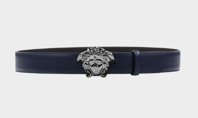 Versace Collection Palazzo Belt with Medusa Buckle