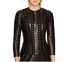 Versace Collection Studded Leather Jacket