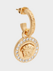 Versace Greca and Medusa Drop Earring
