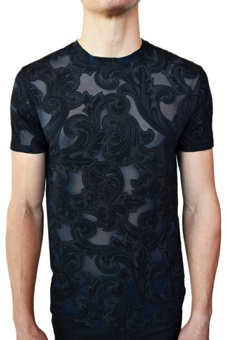 Versace Collection Sheer Baroque T-Shirt