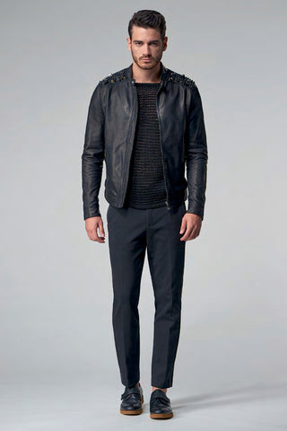 Versace Collection Leather Blouson