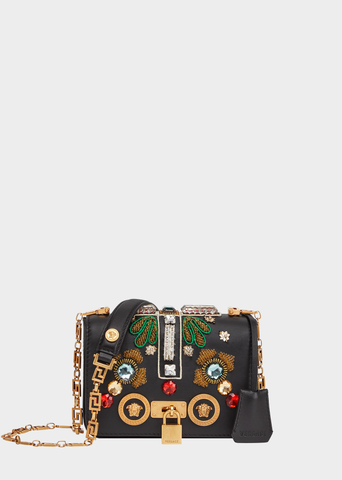 Versace Embellished Cross Icon Shoulder Bag