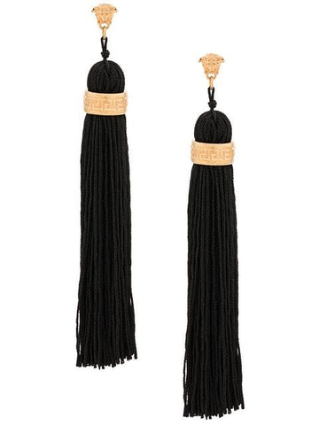 Versace Greca Tassel Earrings