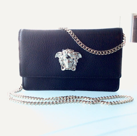 Versace 'Palazzo' Chain Wallet Clutch