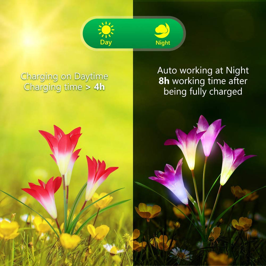 Lily LED Solar Garden Lights (4 Pack)