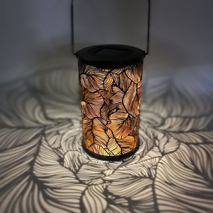 Solar Leaf Shadow Lantern
