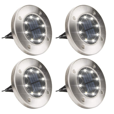 Solar LED Disk Lights (4 Pack)