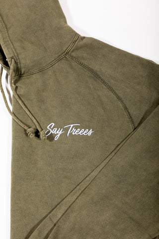 Say Treees Vintage Green Jogger Suits