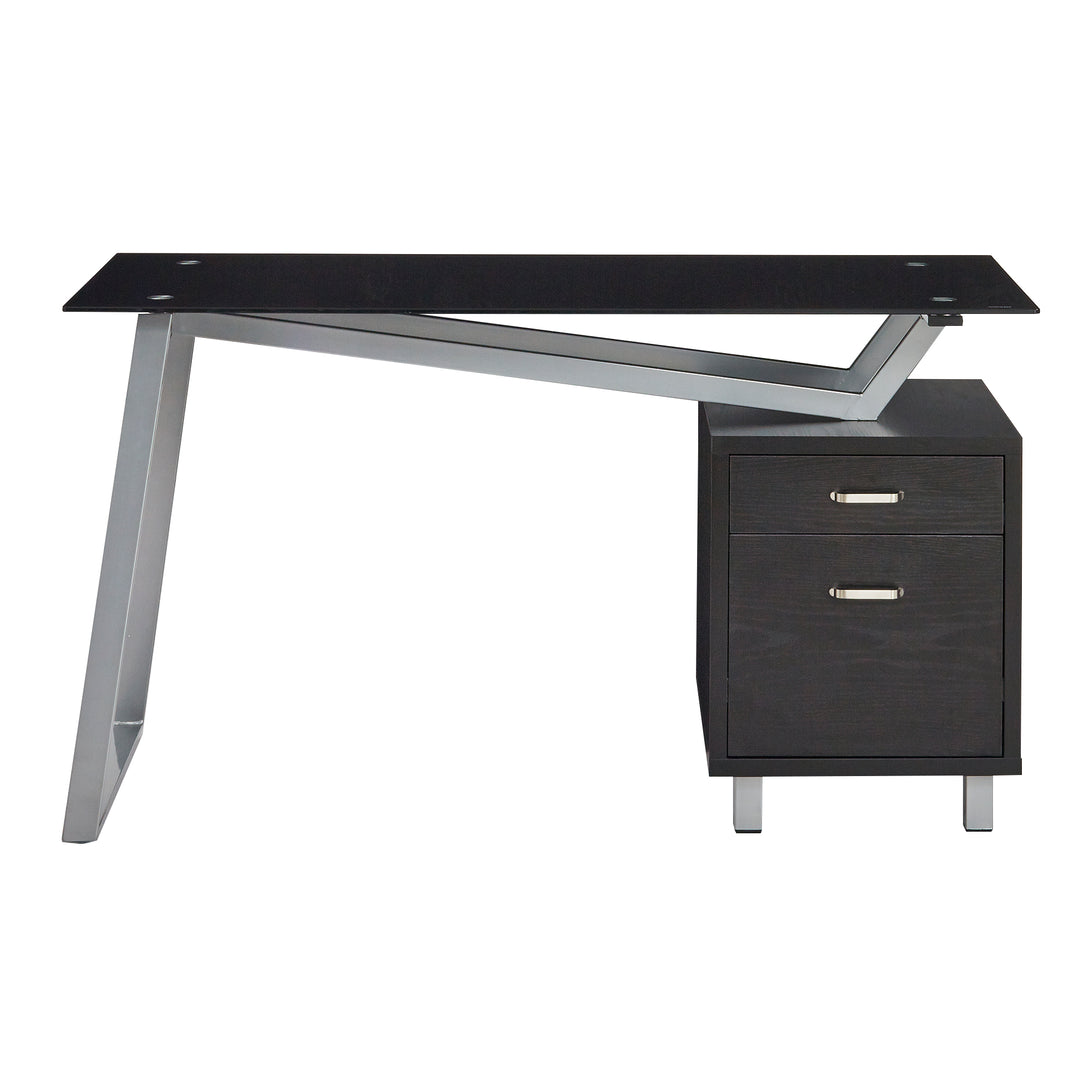1001VGBB-SOHO V-Desk with Glass Top 55W x 23D