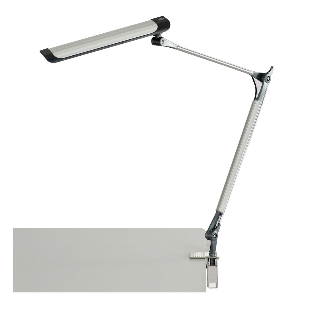 1003SL-Silver 10W Z-Arm LED Drafting Light with C-Clamp & 3-Step Dimmer-SILVER