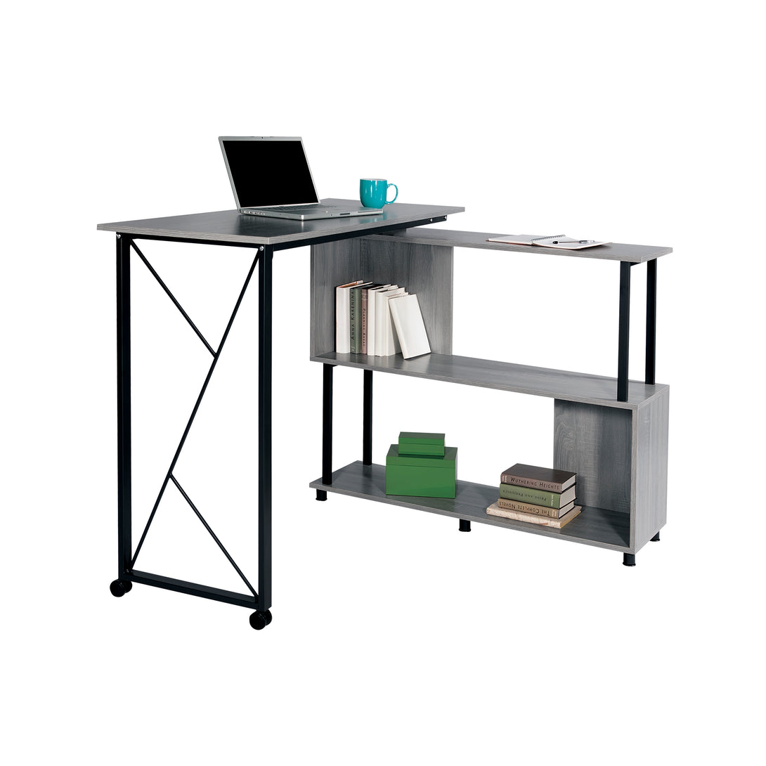 1904GR - Mood™ Standing-Height Desk with Rotating Work Surface 53 W x 21 D