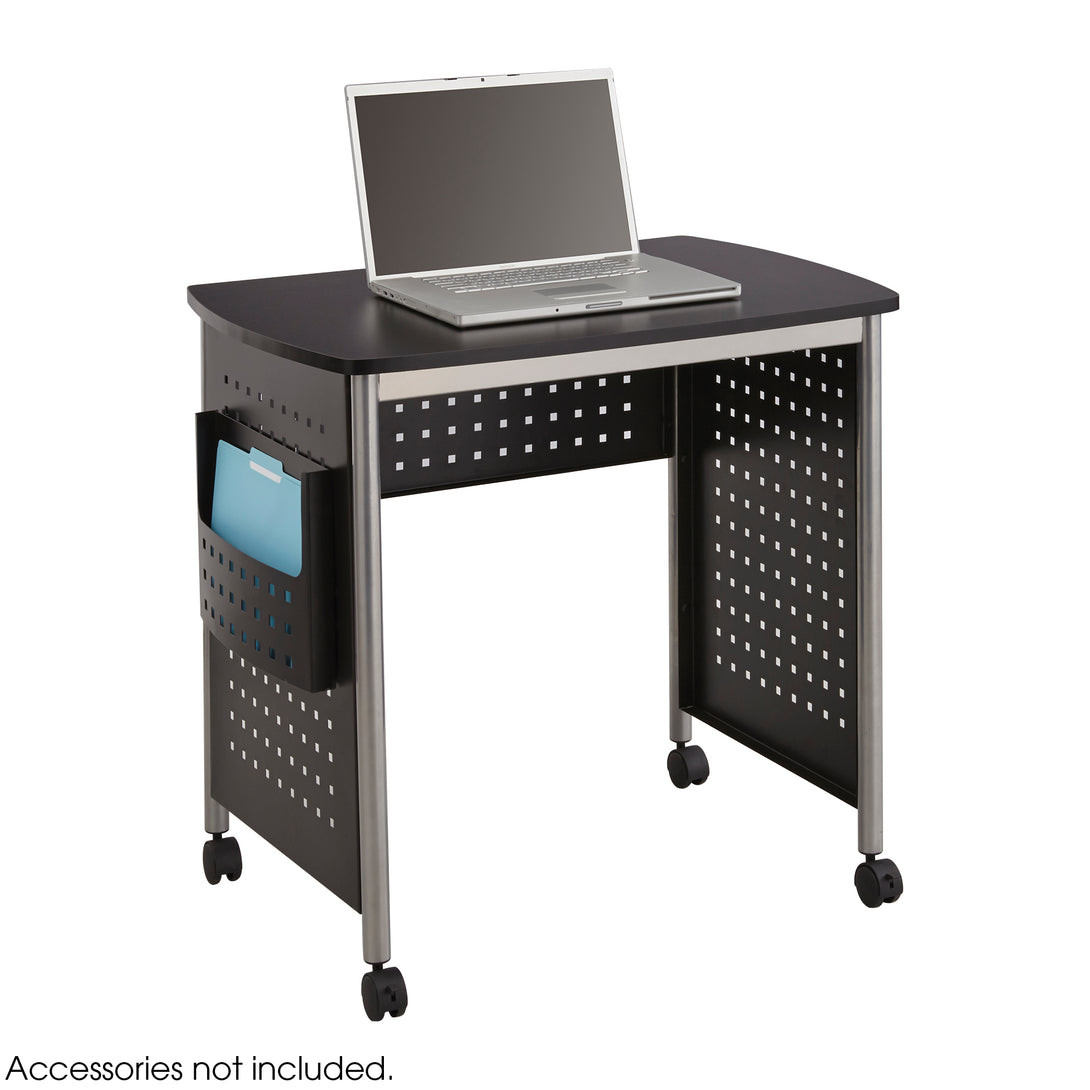1907BL - Scoot™ Sit Down Desk, Black 32W x 22D