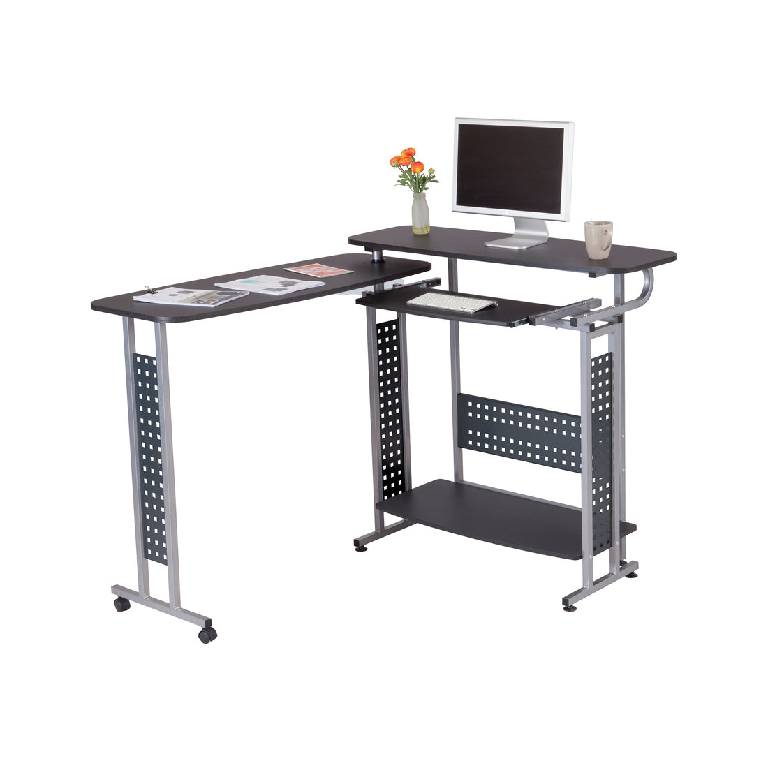 1974BL - Scoot™ Shift Standing-Height Desk, Rotating Top 86W x54D (47W x 21D)