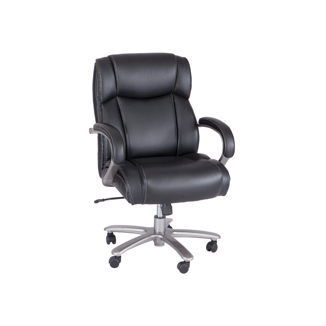 3503BL-Lineage™ Big & Tall Mid Back Task Chair, 400 lb. Weight Capacity-Black (top)