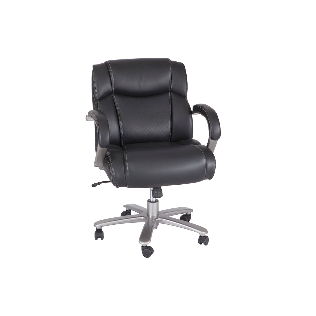 3504BL-Lineage™ Big & Tall Mid Back Task Chair, 350 lb. Weight Capacity-Black