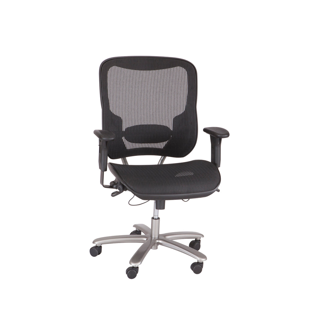 3505BL-Lineage™ Big & Tall All-Mesh Task Chair, 400 lb. Weight Capacity-Black