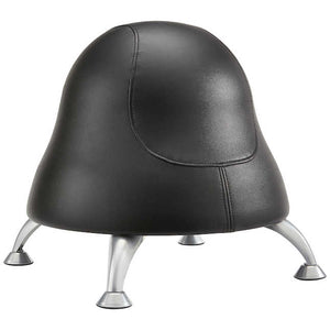 4756BV-Runtz™ Ball Chair- Black (Silver Feet)