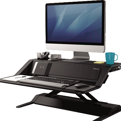 Lotus™ DX Sit-Stand Workstation - Black or White