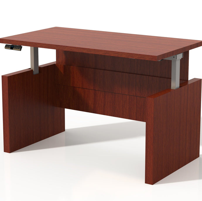 ARDH Aberdeen® Straight Front, Height Adjustable Desk with Base 60-72W x 30-36D