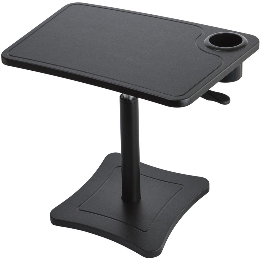 DC240B - High Rise Height Adjustable Laptop Stand with Storage Cup, Black