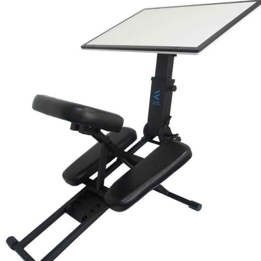D-1060 - Edge Desk Ergonomic Adjustable Kneeling (Black)