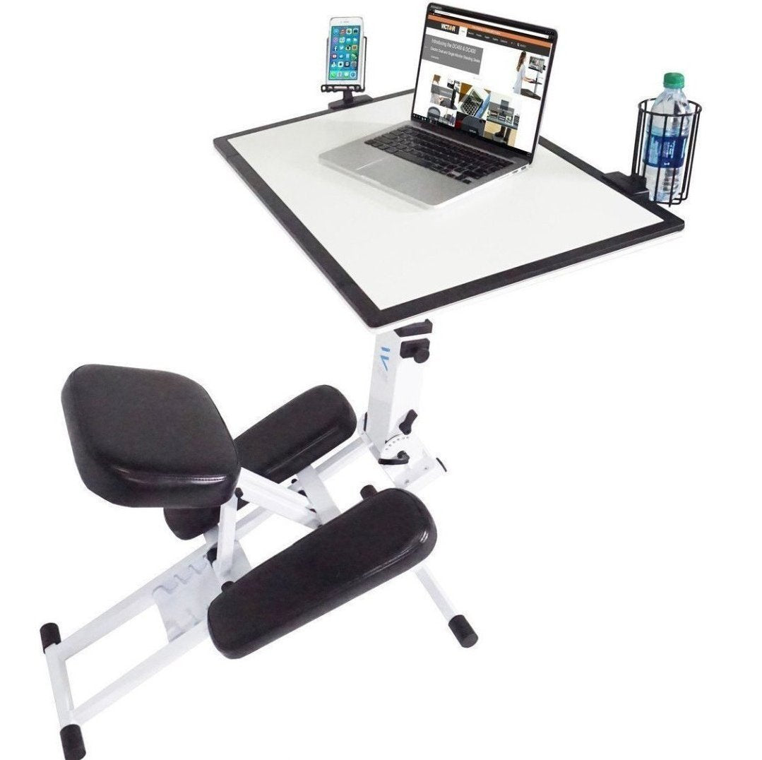 D-1050 - Edge Desk Ergonomic Adjustable Kneeling (White)