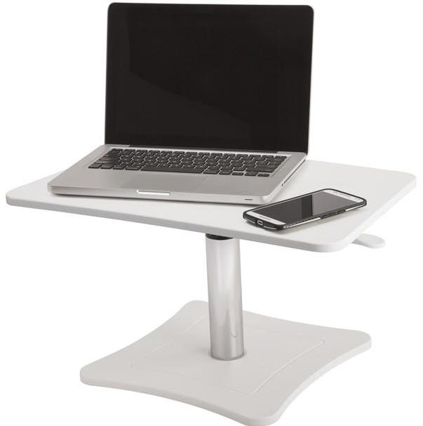 DC230W - High Rise Height Adjustable Laptop Stand, White