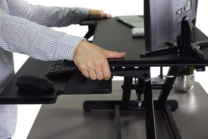 DCX610 - High Rise™ Height Adjustable Standing Desk with Keyboard Tray